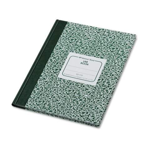 National Brand - Lab Notebook, Quadrille Rule, 7-7/8 x 10-1/8, White -  96 Sheets/Pad