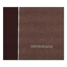 National Brand - Visitor Register Book, Burgundy Hardcover, 128 Pages - 8 1/2 x 9 7/8