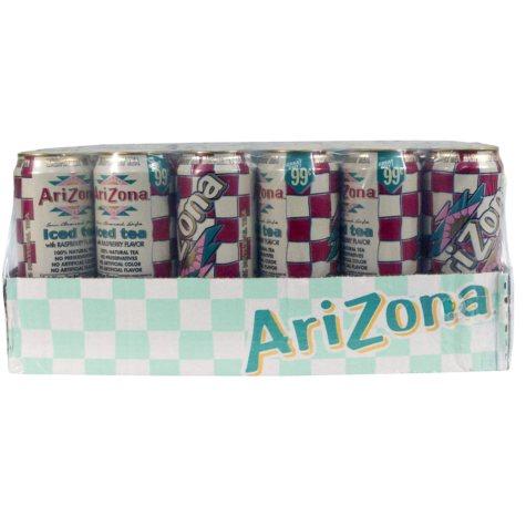 AriZona Raspberry Iced Tea - 23 oz. - 24 pk.