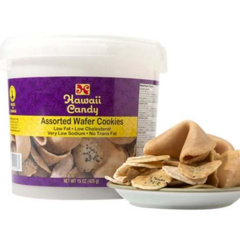 Hawaii Candy Assorted Wafer Cookies (15 oz. tub)