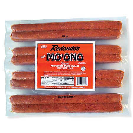 Mo'Ono Sweet Portuguese Sausage (40 oz.)