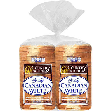Country Kitchen Hearty Canadian White Bread 44 Oz 2 Pk