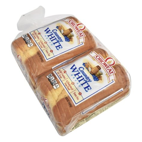 Oroweat Country White Bread (48 oz., 2 pk.)