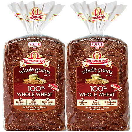 Arnold Whole Grains 100% Whole Wheat Bread (24oz / 2pk)