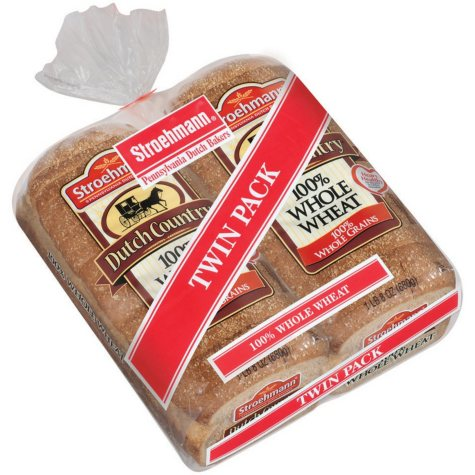 Stroehmann Dutch Country 100% Whole Wheat  - 24 oz. - 2 ct.