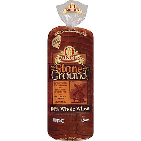 ABO Stone Ground 100% Whole Wheat Bread - 16 oz. - 2 pk.