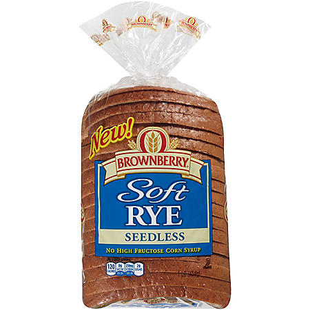 Brownberry Soft Rye Seedless Bread - 16 oz. Loaf