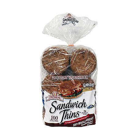 Oroweat Whole Wheat Sandwich Thins (32oz)