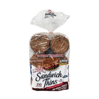 Oroweat Whole Wheat Sandwich Thins (24 ct.)