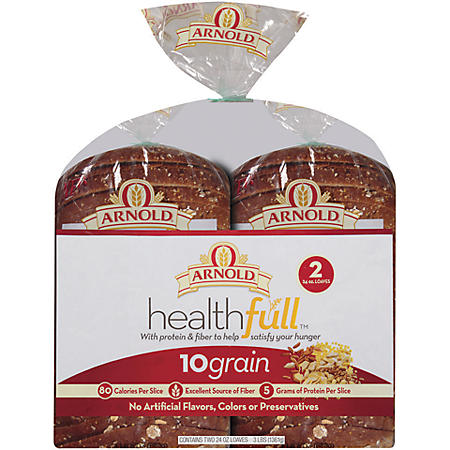 Oroweat Health-full 10 Grain Bread - 24 oz. - 2 pk.