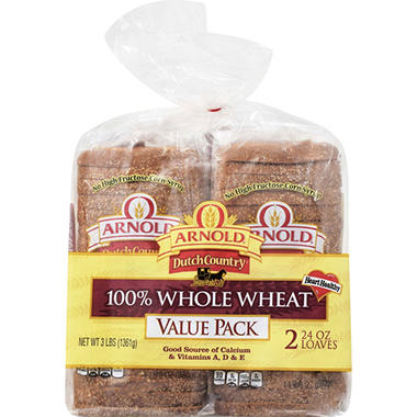 Arnold 100% Whole Wheat Bread  (24 oz., 2 ct.)