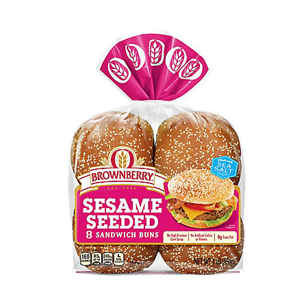 Brownberry Sesame Seeded Sandwich Buns (8 ct.)