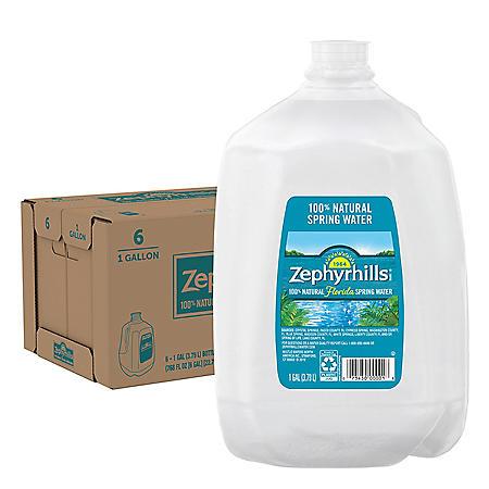 Zephyrhills 100% Natural Spring Water (1gal / 6pk)