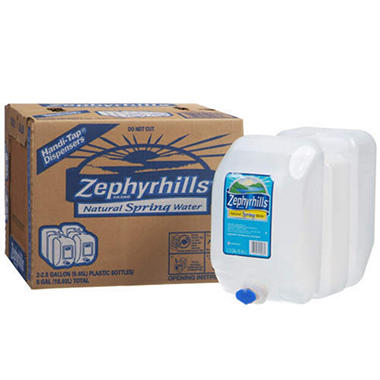 Zephyrhills 100% Natural Spring Water (2.5 gal., 2 ct.)
