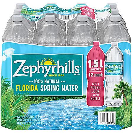 Zephyrhills 100% Natural Spring Water (1.5L / 12pk)