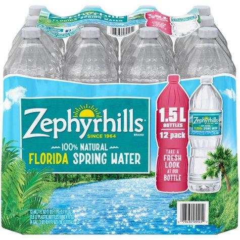 Zephyrhills 100% Natural Spring Water (1.5 L, 12 pk.)