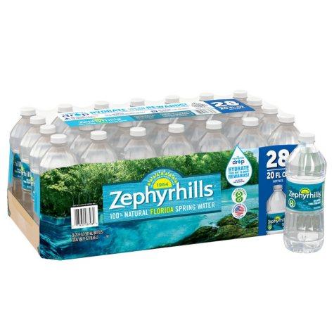 Zephyrhills 100% Natural Spring Water (20 oz. bottles, 28 pk.)