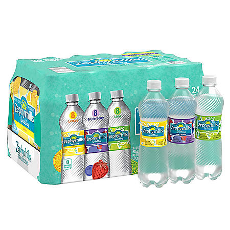 Zephyrhills Sparkling Spring Water Variety Pack (16.9oz / 24pk)