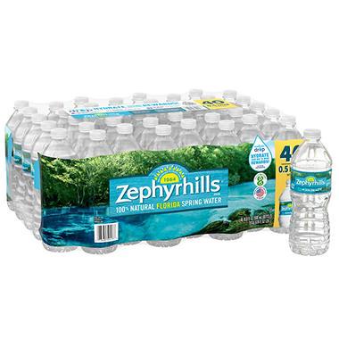 Zephyrhills 100 Natural Spring Water 16 9 Oz 40 Pk