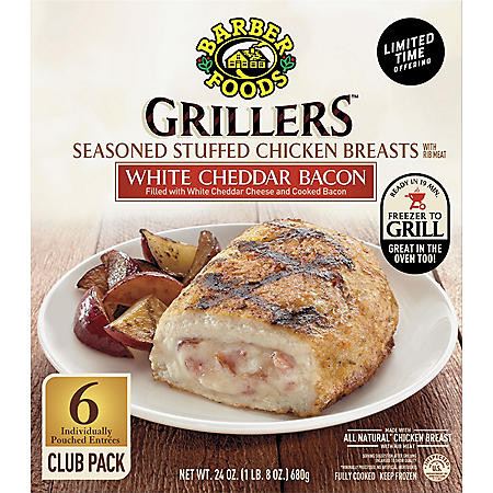 Barber Grillers White Cheddar and Bacon (6 ct.)