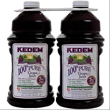Kedem 100% Grape Juice (96 fl. oz. bottle, 2 pk.) - Sam's Club