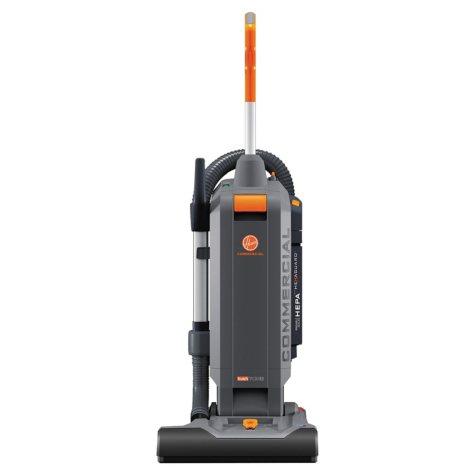 """Hoover Commercial HushTone Vacuum Cleaner, Orange/Gray (15"""")"""