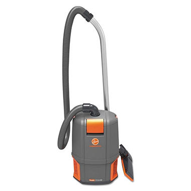 Hoover Commercial HushTone Backpack Vacuum Cleaner, Gray/Orange (11.7 lb.)