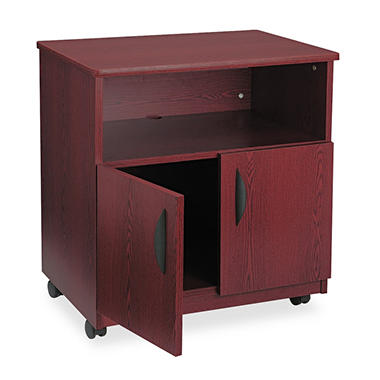 Safco Mobile Machine Stand, Mahogany