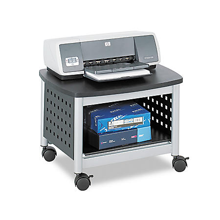 Safco Scoot Printer Stand, Black/Silver