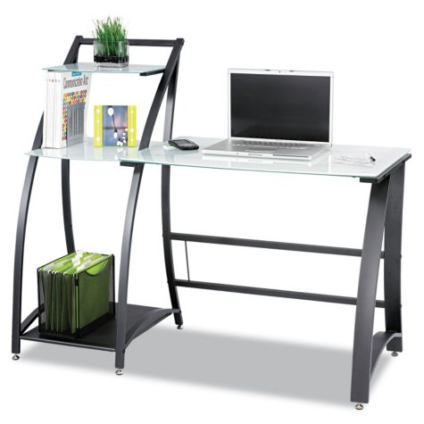 "Safco 53"" Xpressions Computer Workstation, Frosted/Black"
