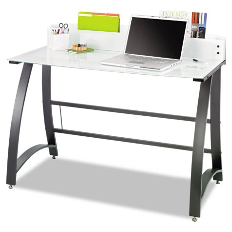"Safco 47"" Xpressions Computer Workstation, Frosted/Black"