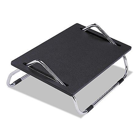 """Safco Ergo-Comfort 18 1/2"""" Adjustable Footrest, Black"""