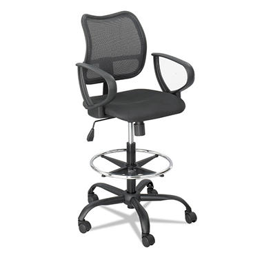 Safco Vue Series Mesh Extended Height Chair, Black