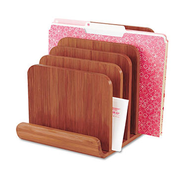Safco Bamboo Wood Organizer - Five Sections - 8