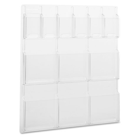 Safco Reveal Clear 12-Pocket Magazine and Brochure Display