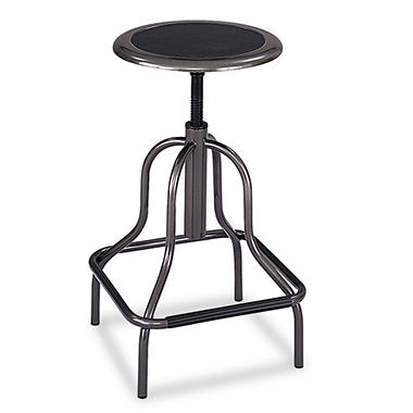 Safco Diesel Series Backless High-Base Industrial Stool, Black
