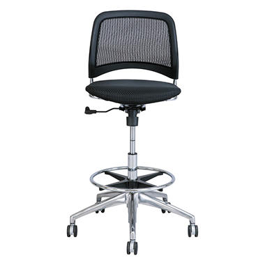 Safco Reve Series Mesh Extended-Height Chair, Black