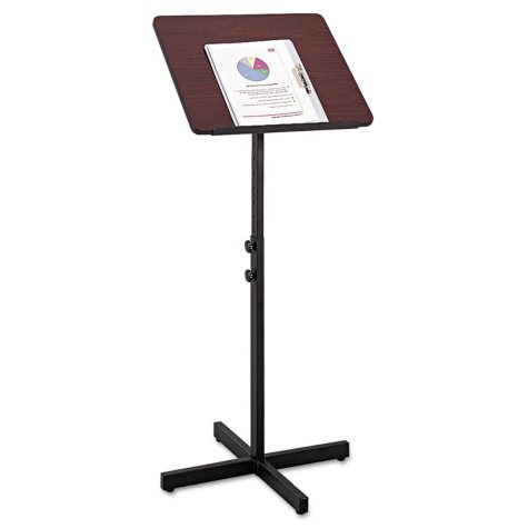 Safco® Adjustable Speaking Stand, Mahogany