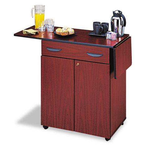 Safco® Hospitality Service Cart, Mahogany