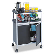 Safco Mobile Beverage Cart, Black