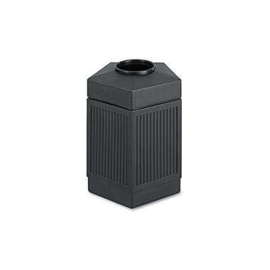 Safco Canmeleon Indoor/Outdoor Pentagon Receptacle, Black (45 gal)