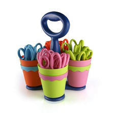 "Westcott Scissor Caddy including 5""  Scissors w/Microban (24 Count) (Assorted Style)"