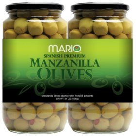 Mario Spanish Premium Manzanilla Olives (21 oz. jars, 2 ct.)