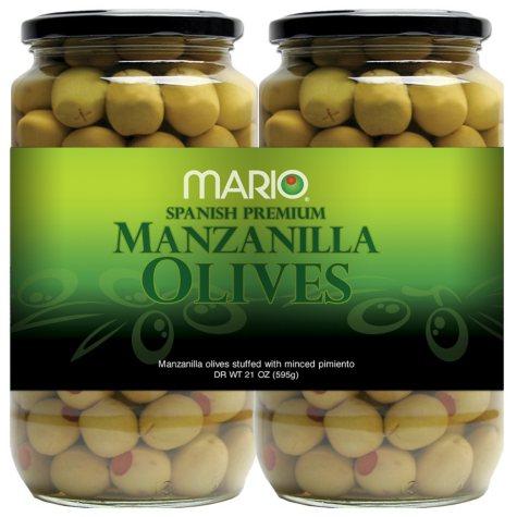 Mario Spanish Premium Manzanilla Green Olives - 21 oz. - 2 pk.