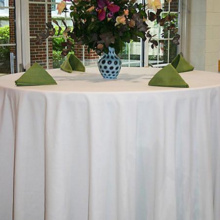 """Riegel 120"""" Round Seamless Tablecloth - White - 3 pk."""