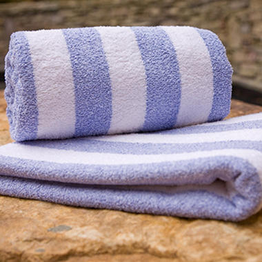 Riegel Cabana Stripe Pool Towel - 6 Pk. - Ocean Blue