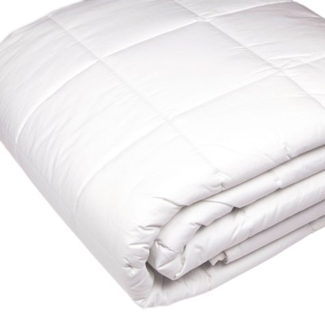 Riegel 230-Thread-Count White Quilted Blanket