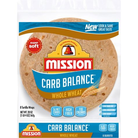 Mission Carb Balance Burrito Whole Wheat Tortillas (8 ct., 20 oz.)