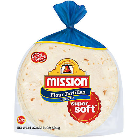Mission Large Burrito Flour Tortillas (47oz / 2pk)