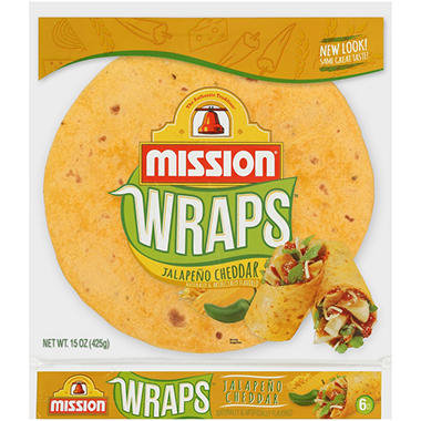 Mission Jalapeno Cheddar Wraps (6 ct., 15 oz.)